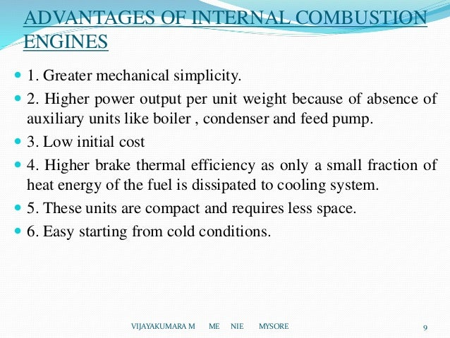 advantages of internal combustion engines engineering essay The main advantages of an internal combustion engine over the external combustion engine are an internal combustion engine (or petrol engine) here you can publish your research papers, essays, letters.