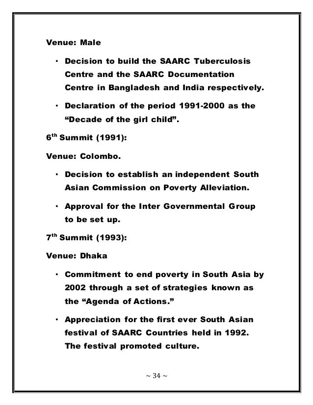 SAARC ( South Asian Association Regional Cooperation )