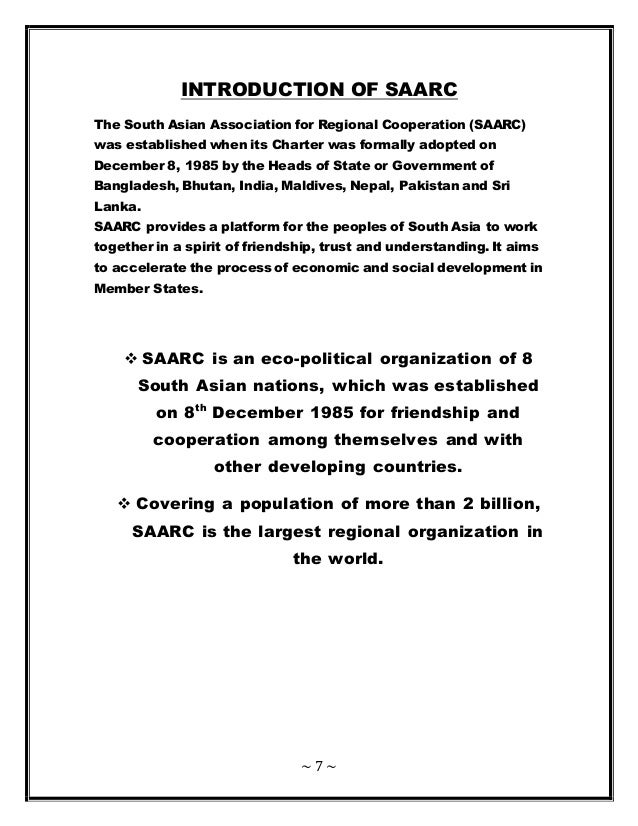 the south asian association for regional cooperation essay 1143 words essay on regional co-operation for development  regional cooperation can play a  being an active member of the association of south east asian.