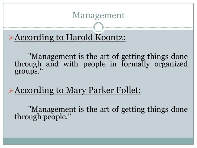 The art of getting things done through people mary parker