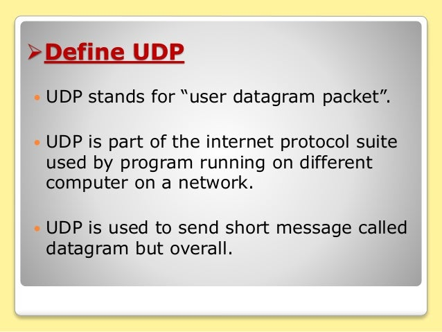 Introduction of tcp, ip & udp