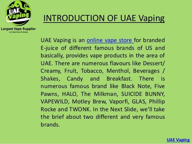 Introduction of uae vaping