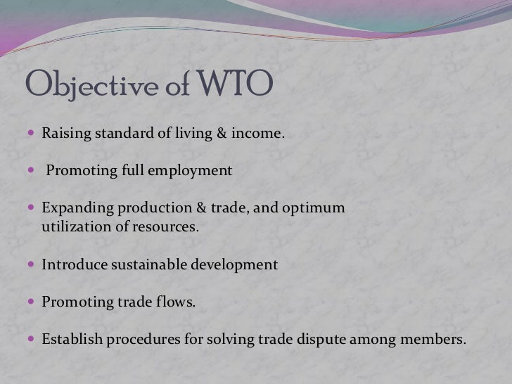 A description of the world trade organisation as the only international organization dealing with th