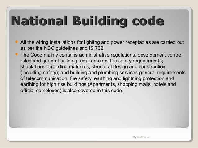 Introduction on indian codes as applied in electrical design
