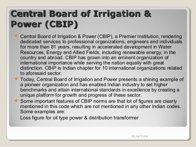 Central Board of Irrigation &Central Board of Irrigation & Power (CBIP)Power (CBIP)  Central Board of Irrigation & Power ...