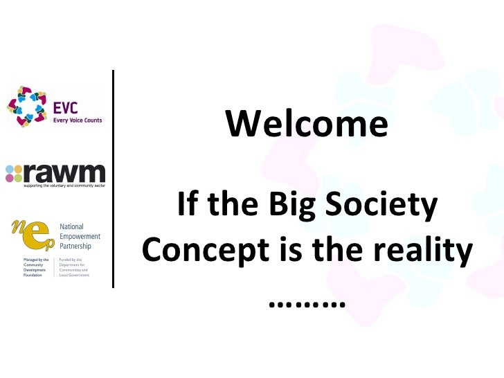Introduction presentation gor the Every Vpice Counts Big Society event