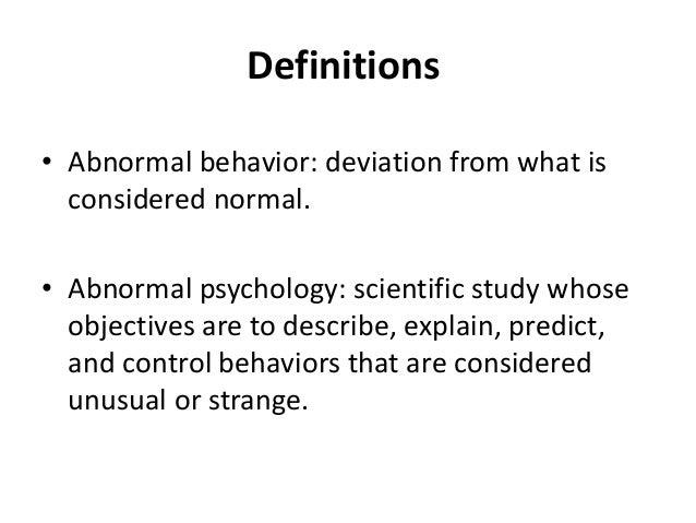 Introduction Psychopathology