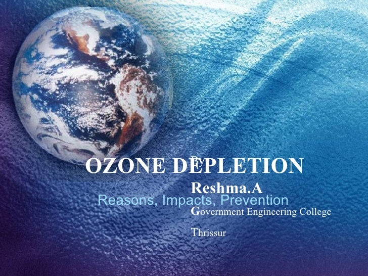 Ozone Depletion and Global Warming