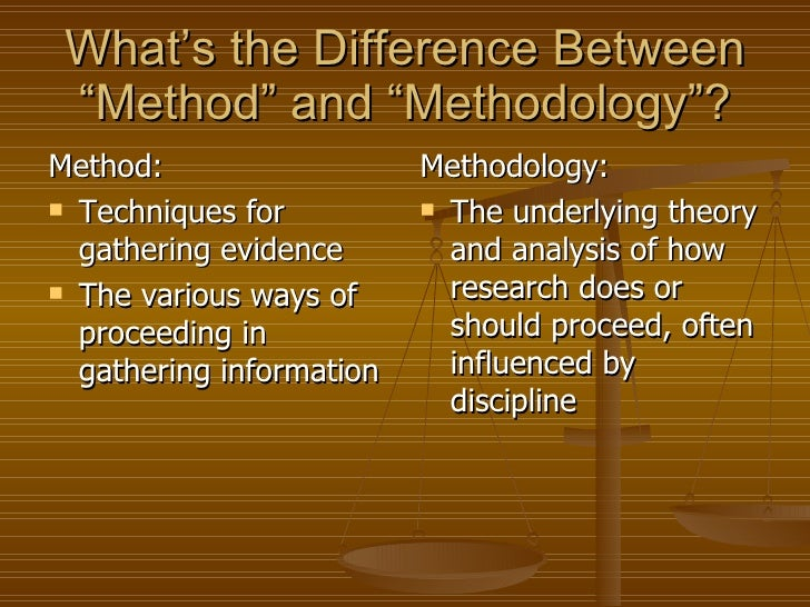 Key Differences Between Research Method and Research Methodology