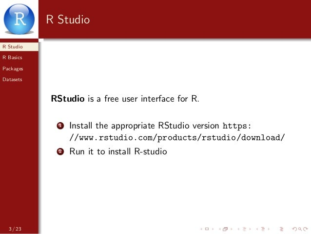 Introduction to Rstudio