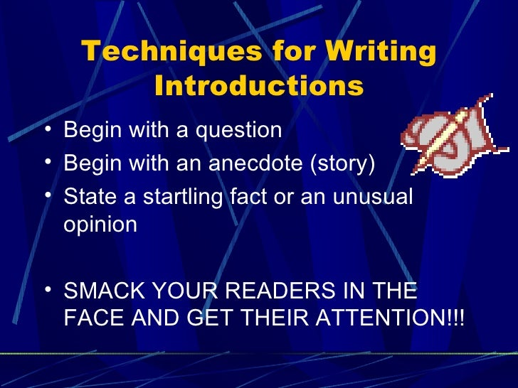 writing introductions and conclusions Writing introductions and conclusions for essays paragraphs with special requirements an introduction should tell your reader exactly what your paper is.