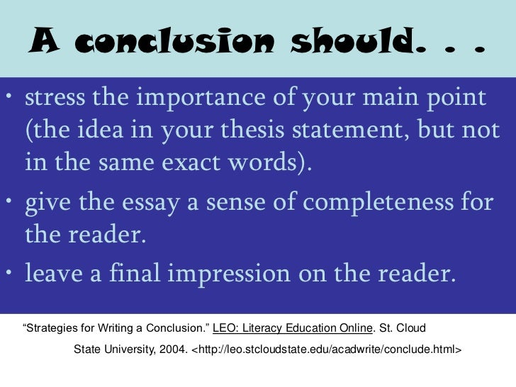 Writing essay introductions and conclusions