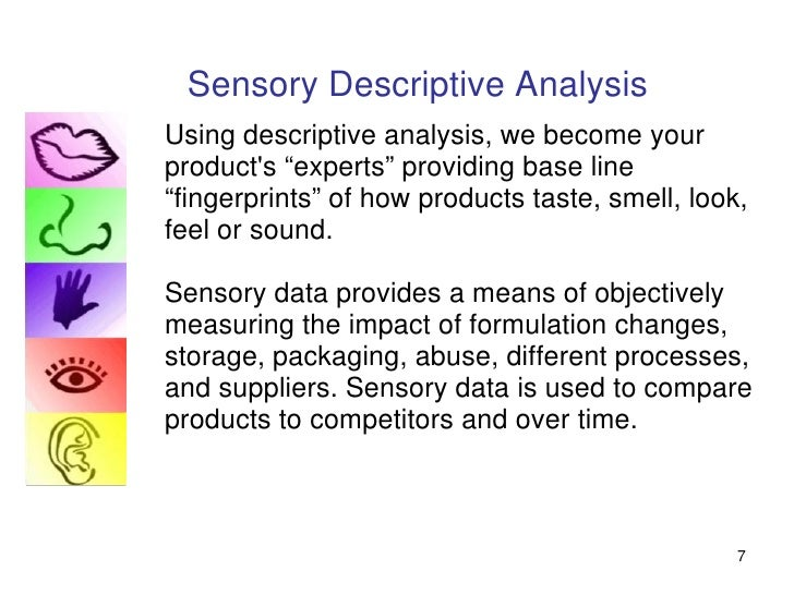 a study of sensory data Introduction to the methods used to study perception author: robert stufflebeam additional credits: the observations and data collected through their research will not necessarily be of any help in answering innumerable sensory systems (visual, auditory.