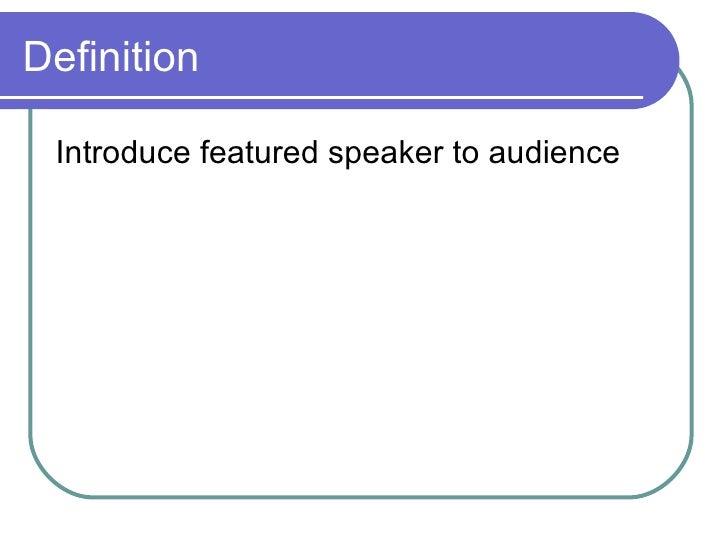 Introduction Speech Slide 2
