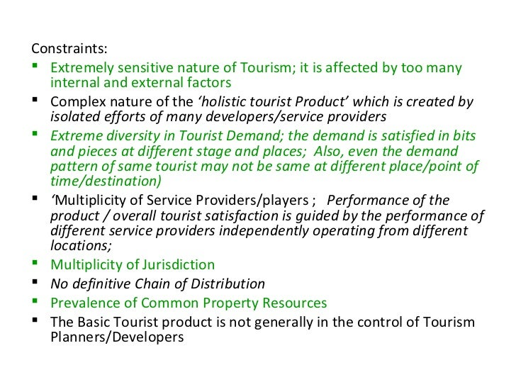 travel constraints in tourism