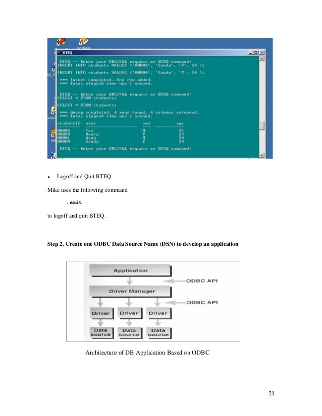 How to write a bteq script