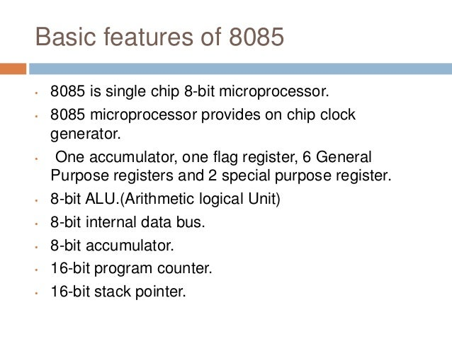 Introduction to 8085 microprocessor.