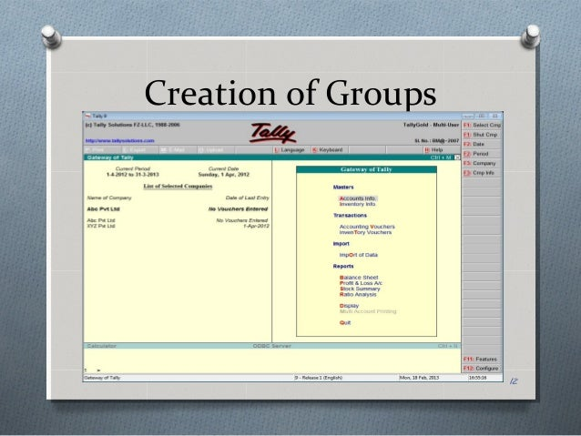 Introduction To Accounting Software Tally