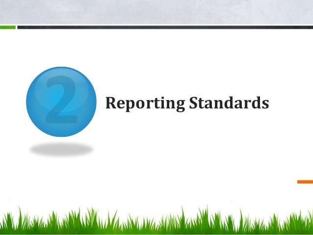 Reporting Standards