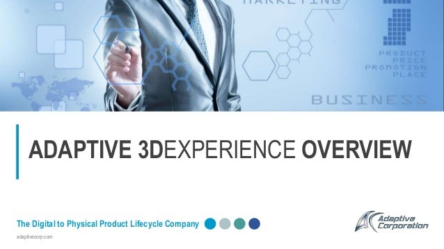 adaptivecorp.com The Digital to Physical Product Lifecycle Company ADAPTIVE 3DEXPERIENCE OVERVIEW