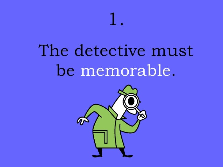 Elements of a Detective Story Slide 3