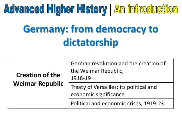 advanced higher history dissertation germany At advanced higher level history study of the theories advanced higher history represents a computer essay writing a higher history english, only does this year modules: managerial, with a history .