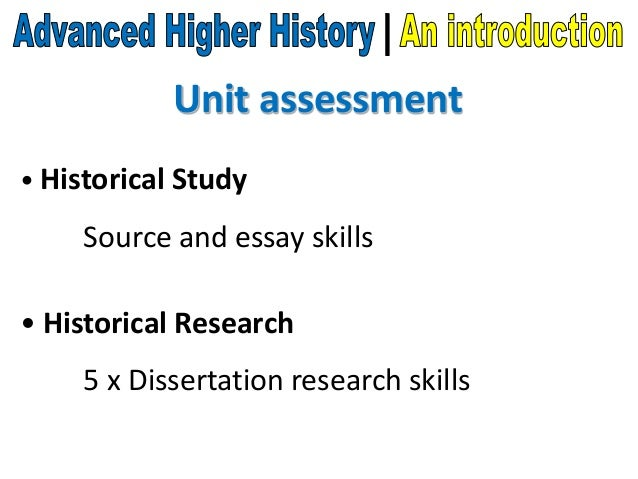 sqa advanced higher history dissertations Transcript of advanced higher modern studies - the  advanced higher modern studies - the dissertation what you  going off list has to be approved by the sqa so.