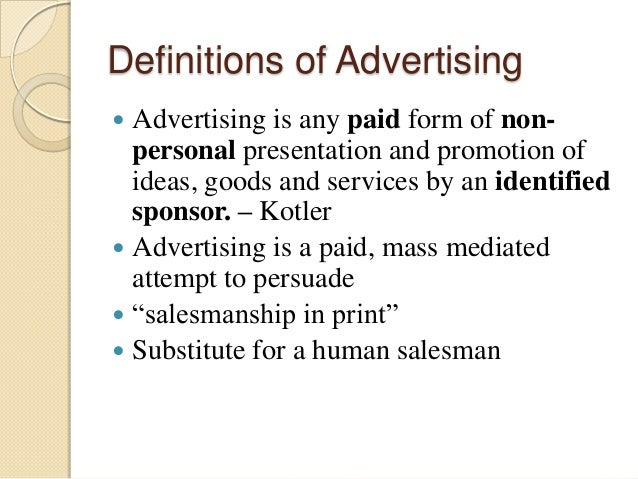 introduction to advertising ppt