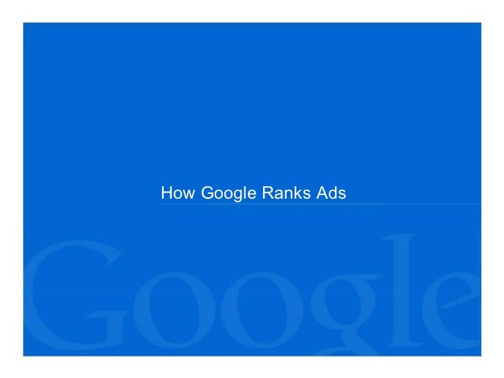 How Google Ranks Ads