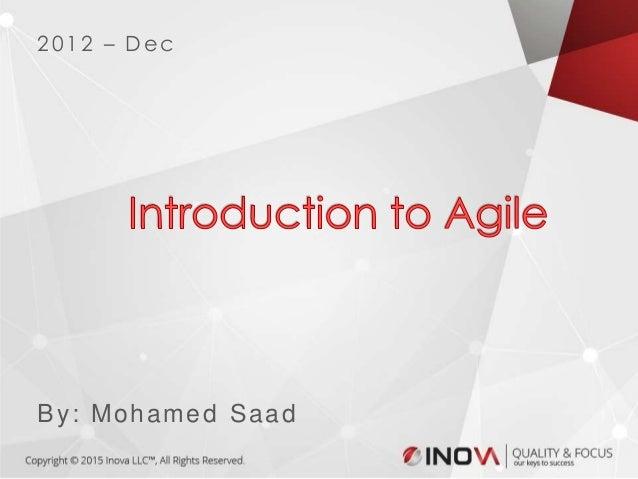 1By: Mohamed Saad 2012 – Dec