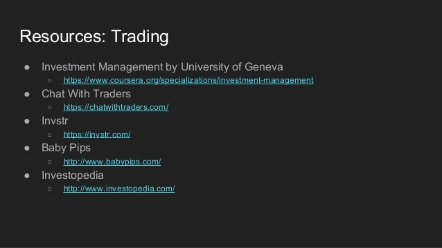 Master thesis algorithmic trading