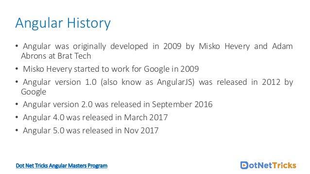 angular version history