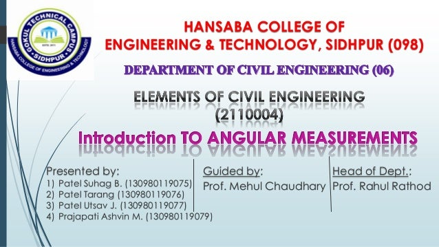 HANSABA COLLEGE OF ENGINEERING & TECHNOLOGY, SIDHPUR (098) Guided by: Prof. Mehul Chaudhary Head of Dept.: Prof. Rahul Rat...