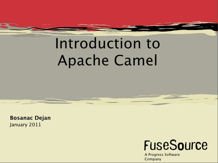 Introduction to                 Apache CamelBosanac DejanJanuary 2011                            A Progress Software      ...