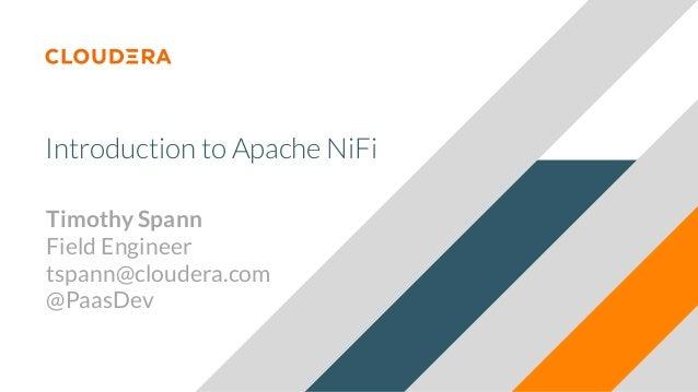 Introduction to Apache NiFi dws19 DWS - DC 2019