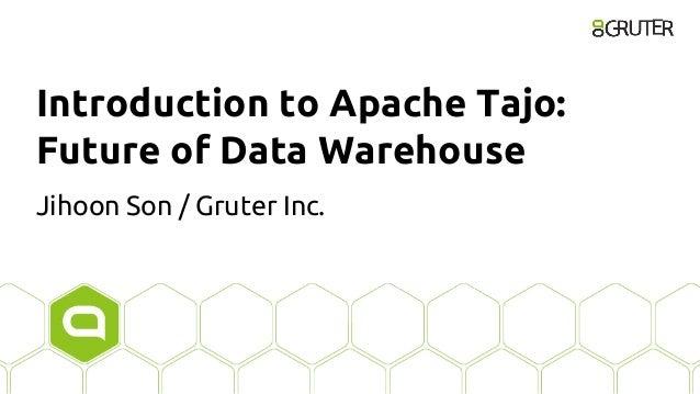 Introduction to Apache Tajo: Future of Data Warehouse Jihoon Son / Gruter Inc.