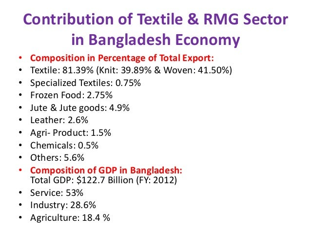 Impacts of rmg sector in bangladesh national economy