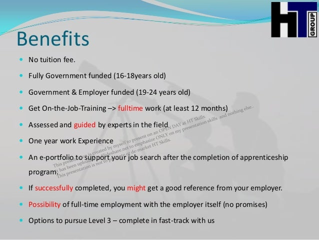 benefits of ojt experience Approval of on-the-job training programs va can pay benefits for on-the-job training • grant credit to each trainee for previous training or experience.