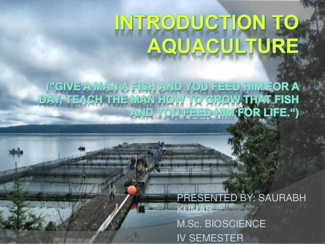 introduction to aquaculture ppt