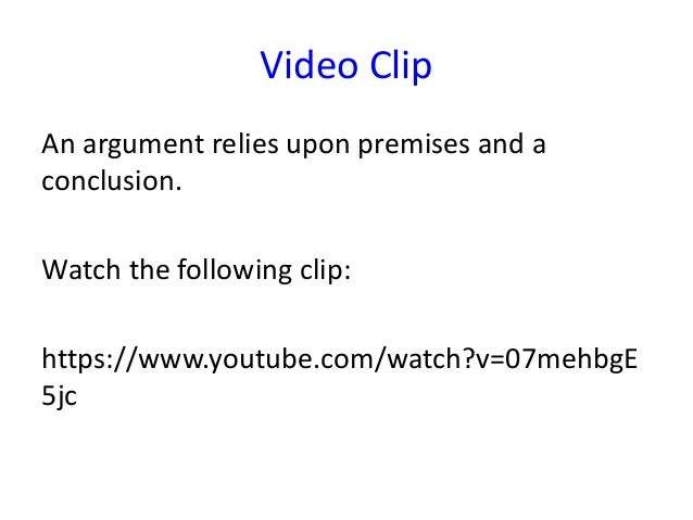 As critical thinking argument elements