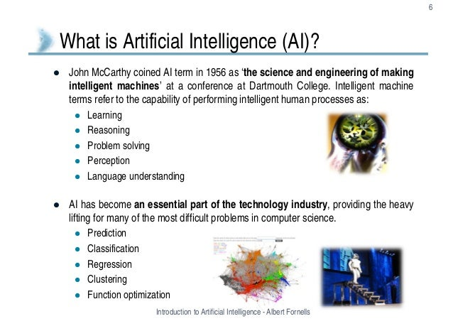 artificial intelligence essay example Free essay: this paper summarizes various definitions of artificial intelligence and provides a brief account of progress in the field artificial intelligence: cognitive ability or information processing computers have become an integral part of our everyday lives.