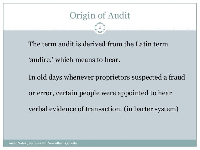 Auditing (Introduction to Auditing)  Slide 2