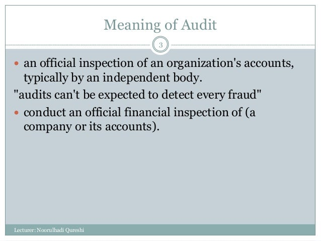 Auditing (Introduction to Auditing)  Slide 3