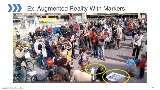 Ex: Augmented Reality With Markers Copyright © William El Kaim 2016 46