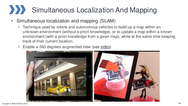 Simultaneous Localization And Mapping • Simultaneous localization and mapping (SLAM) • Technique used by robots and autono...