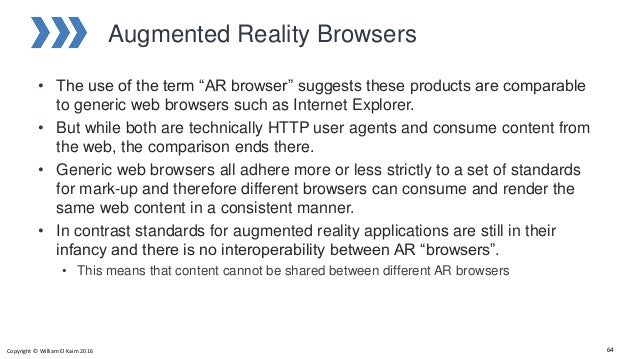 """Augmented Reality Browsers • The use of the term """"AR browser"""" suggests these products are comparable to generic web browse..."""