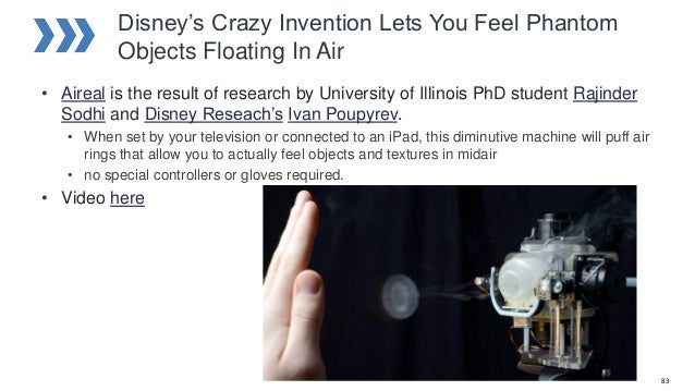 Disney's Crazy Invention Lets You Feel Phantom Objects Floating In Air • Aireal is the result of research by University of...