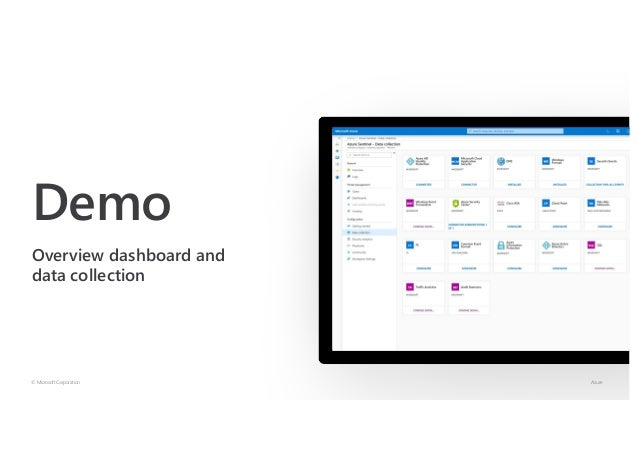 Demo Overview dashboard and data collection © Microsoft Corporation Azure