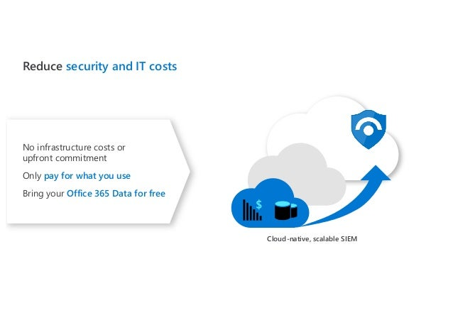 Reduce security and IT costs No infrastructure costs or upfront commitment Only pay for what you use Bring your Office 365...