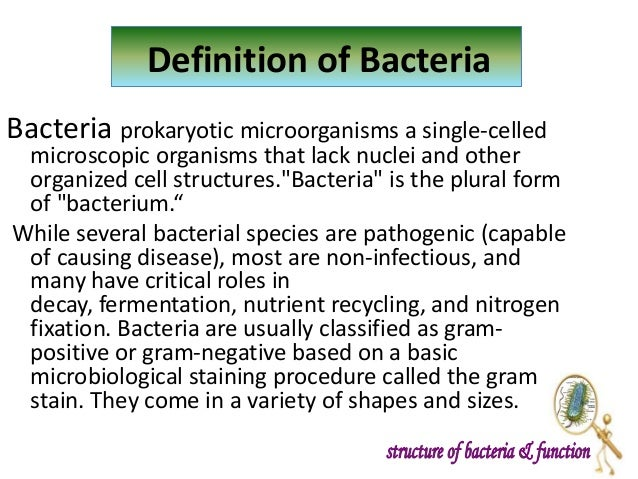 Introduction to bacteria, structure and function